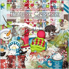 "December 2015:  Scrappin' Your ♥ Out Blog Train- ""Snow Much Fun""... Melissaz Creationz"