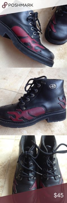 Spotted while shopping on Poshmark: Harley Davidson Leather Moto Boots EUC! #poshmark #fashion #shopping #style #Harley-Davidson #Shoes