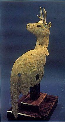 kofun period art | The Kofun period (AD.250–AD.592) art,Haniwa terracotta clay figure ...
