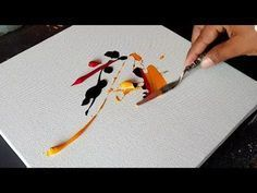 Colorful and Easy ABSTRACT PAINTING in Acrylics / Demonstration / Project 365 days / Day #032 - YouTube