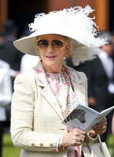 Princess Michael of Kent, June 7, 2014 | Royal Hats.....Princess Michael of Kent attended Derby Day at the Investec Derby Festival at Epsom Downs Racecourse on June 7, 2014..