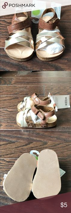 Carters Gold & Brown Sandals Brand new baby Sandals Carter's Shoes Sandals & Flip Flops