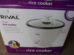 RICE COOKER.6 CUP, RIVAL. NEW.
