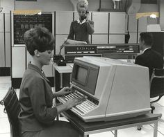 Office work in the very early 1970s.