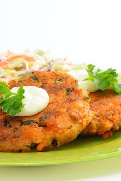 Wasabi Salmon Cakes - Oh my!  I use low-sodium soy sauce and olive oil instead of Pam spray