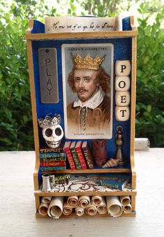 Shakespeare Shrine - PAPER CRAFTS, SCRAPBOOKING & ATCs (ARTIST TRADING CARDS)by jennieingram