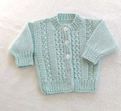 d9d9a23e52c7 Hand knit baby clothes - Baby cardigan and hat - 6 to 12 months - Mint green  baby sweater - Baby hat and sweater - Baby shower gift