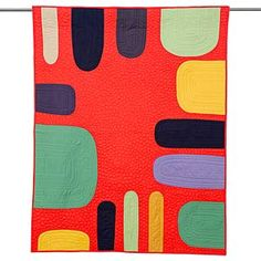 Feels like marimekko. Man Cave Quilts, Boy Quilts, Handmade Quilts For Sale, Modern Blankets, Uncommon Threads, Fiber Art Quilts, Wooden Ruler, Textiles, Foundation Paper Piecing