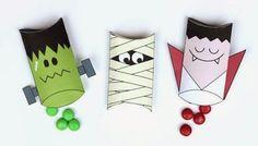 Cajas Almohada de Drácula, Frankenstein y Momia para Imprimir Gratis.