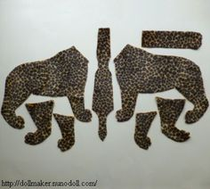 Leopard body parts belly piece: narrowest end is for back legs.
