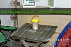 Lantern for pretend play for camping
