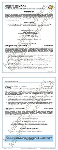 Fitness Trainer Resume Example Resume examples - art teacher resume examples