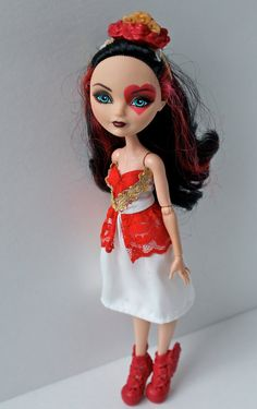 Ever After High Doll Clothes - Lizzie Hearts by CecietCette on Etsy