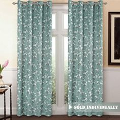 VERSAILTEX Traditional Aqua Floral Country Style Pattern Thermal Insulated Blackout Curtains Living Room,Grommet Window Treatment Drapes Panels), x Inch online - Topusashoppingsites Kids Curtains, Cool Curtains, Window Curtains, Curtains Living, Bedroom Curtains, Curtain Panels, Silver Curtains, Blue Curtains, Ready Made Eyelet Curtains