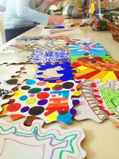 Studio 35 Week's Art Pieces reflect everyone's personalities! #FHR #Studio35 #ArtTherapy www.fellowshiphr.org