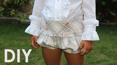 Bombacho con canesú. Moda infantil otoño. White Shorts, Kids, Bb, Manga, Learning, Youtube, Fashion, Child Fashion, Little Girls