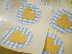 Make Sizzix ducks on stands for all of the food.