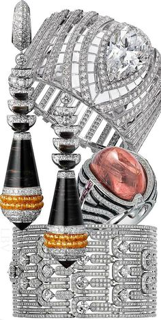 #Cartier...I have a beautiful pear diamond = would I love to have it remounted in a band like this! <3
