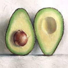 64 Ideas Fruit Painting Acrylic Artists For 2019 Avocado Art, Fruit Picture, Avocado Picture, Fruits Drawing, Avocado Dessert, Fruit Illustration, Fruit Painting, Art Oil, Painting Inspiration