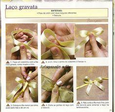 Artesanato e Cia : Aprenda a fazer laço gravata,laço duplo 1 e 2 e la...