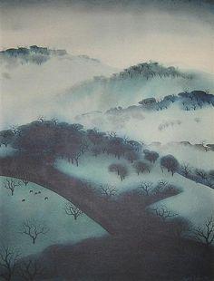 Eyvind Earle Misty Mountains 1970