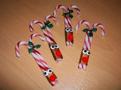 Candy Cane Reindeers...would be cute for the kids to take as gifts for the classroom!