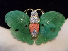Kenneth J Lane KJL Butterfly Jewelry Brooch by AnnesGlitterBug