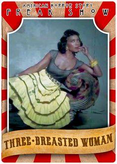AHS Freak Show ~ Three-Breasted Woman
