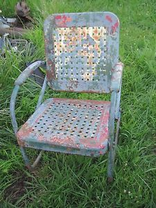 old fashioned metal lawn chairs wheelchair glider vintage rockers retro porch chair rocker 1950 s ebay
