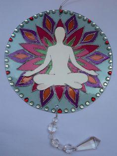 Mandala em Vidro | LS Arte em Mosaico | Elo7