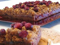 Mmm! Anyone for some cranberry coffee cake? #bccranberries