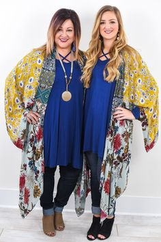 In Another Land Multi Color Floral Kimono - O451MU
