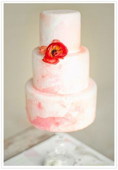 watercolor cake by highland bakery/concept & styling by me/photo  by jeremy harwell