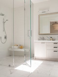 Barrier Free Shower Curbless Shower Design Ideas, Pictures, Remodel and Decor