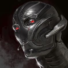 "Early facial study concept art of Ultron from ""Avengers: Age of Ultron"" (2015) by Ryan Meinerding."
