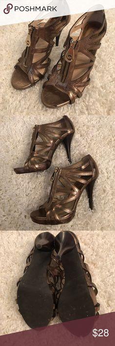 Michael Kors Brown Metallic Heels size 7 Michael Kors Brown Metallic Heels size 7 KORS Michael Kors Shoes Heels