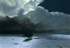 """thepolishstufflove: """" """"Mountain Wind"""" by Stanisław Witkiewicz oil on canvas, National Museum, Cracow. Old Paintings, Nature Paintings, Landscape Paintings, Landscapes, North Sea, Nocturne, National Museum, Moonlight, Oil On Canvas"""