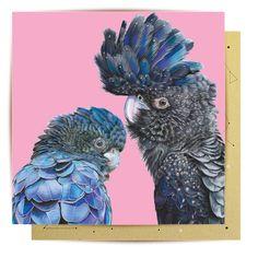 Greeting Card Terry & Ellis – La La Land Advance Australia Fair, Cockatoo, Kraft Envelopes, Lion Sculpture, Greeting Cards, Statue, Prints, Painting, Art