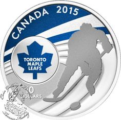 Coin Gallery London Store - Canada: 2015 $10 Toronto Maple Leafs Silver Coin, $74.95