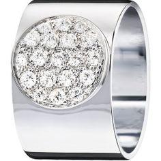 Bague Anthéa dinh van or blanc et diamants