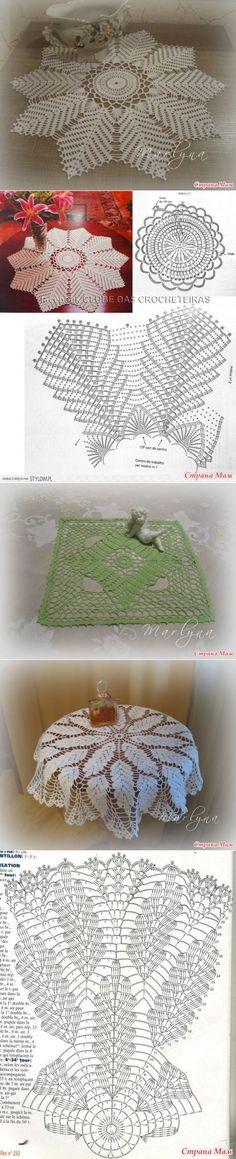 esquemas de servilletas de ganchillo