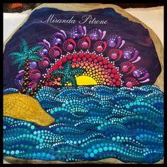 Puntillismo Dot Painting, Stone Painting, Aboriginal Patterns, Mandala Dots, Stone Art, Rock Art, Diy Art, Painted Rocks, Beach Mat