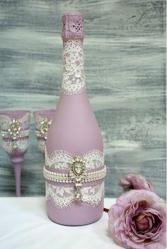 """Свадебное шампанское """"Нежность сирени"""""""
