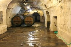 Cellars of the Pilsner Urquell Brewery in Pilsen, Czech Republic. Check out our blog post from out visit.