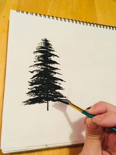 Painting Trees With A Fan Brush   Step By Step Acrylic Painting. Baum  MalenAcrylmalerei AbstraktIdeen Fürs ...