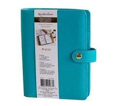 NEW Recollections 40 pc Personal Planner Binder A6- Turquoise