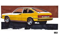 Rare sketches: Even Giorgetto Giugiaro for the Passat B2 made suggestions and his ideas werewolf incorporated into the development.  Ultimately, the B2 but what Copyright by the Volkswagen design team led by Herbert Schäfer.