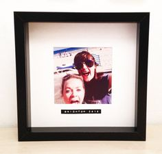 Items similar to Best friend personalised photo frame with retro label- bridesmaid, family, wedding, festival, memory on Etsy