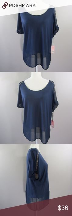 NEW~JUICY COUTURE~ Blue Embellished Top Blouse L NEW~JUICY COUTURE~ Blue Embellished Top Blouse   Size Large  Modal/Polyester  Measurements coming soon. Please contact me if you would like them sooner. Juicy Couture Tops Blouses
