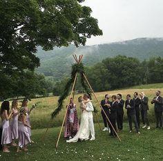 Models Convene in the Catskills to Watch Hanne Gaby Odiele Wed in Alexander Wang